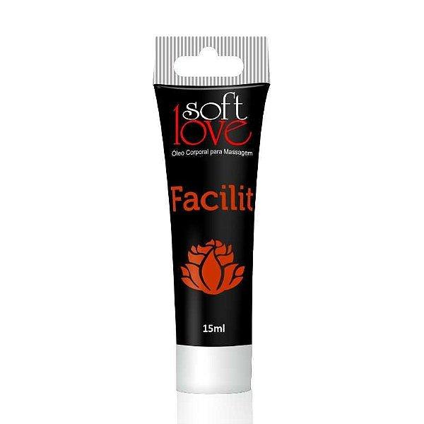 Gel Lubrificante Anal Facilit 15ml Soft Love