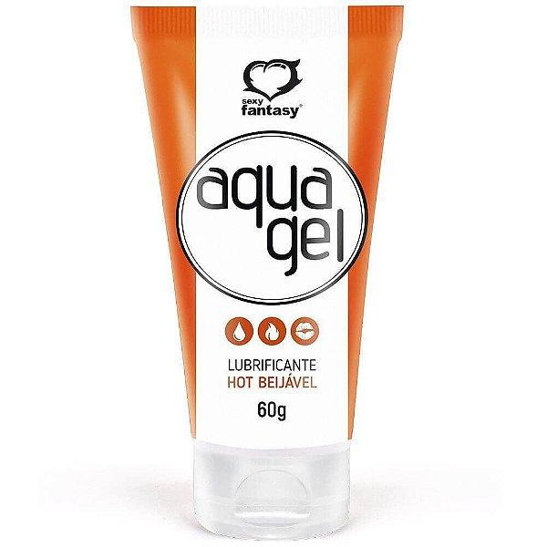 Aqua Gel Lubrificante Beijável Hot 60g Sexy Fantasy