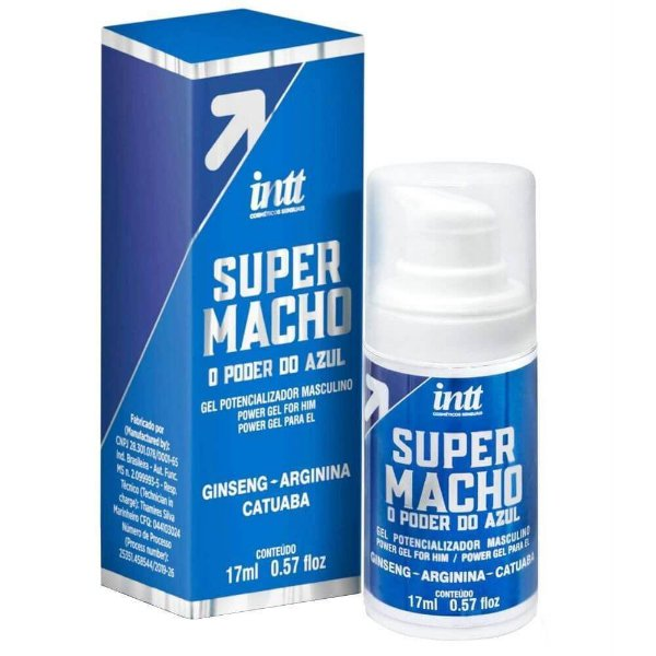 Super Macho o Poder do Azul Gel Potencializador Intt