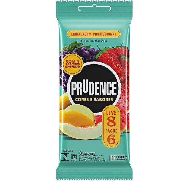 Preservativo Cores e Sabores Mix com 6 Unidades Prudence