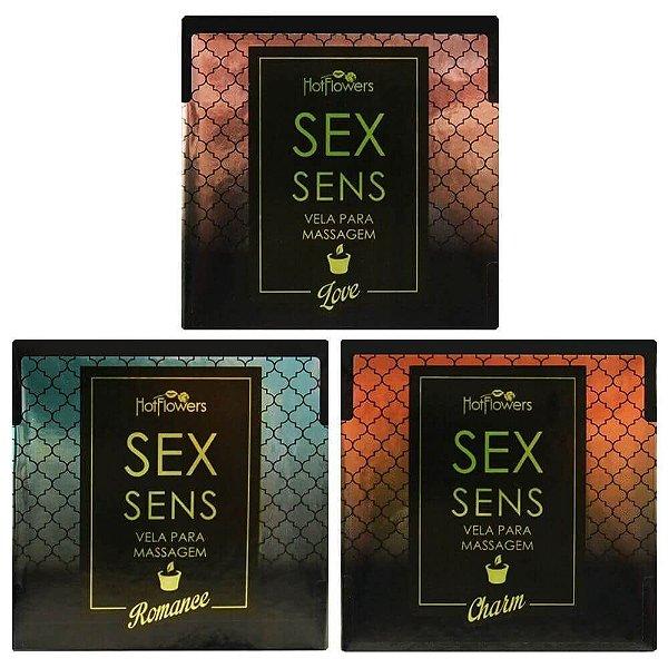 Vela Erótica Sex Sens Massagem Erótica 20g Hot Flowers