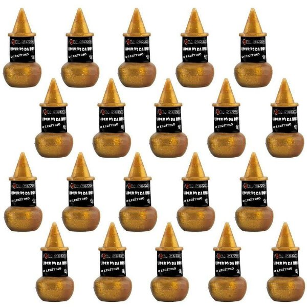 Pack 20 Unidades Pó Mágico Da Bruxinha Dourado Luxo 2g Loka Sensação