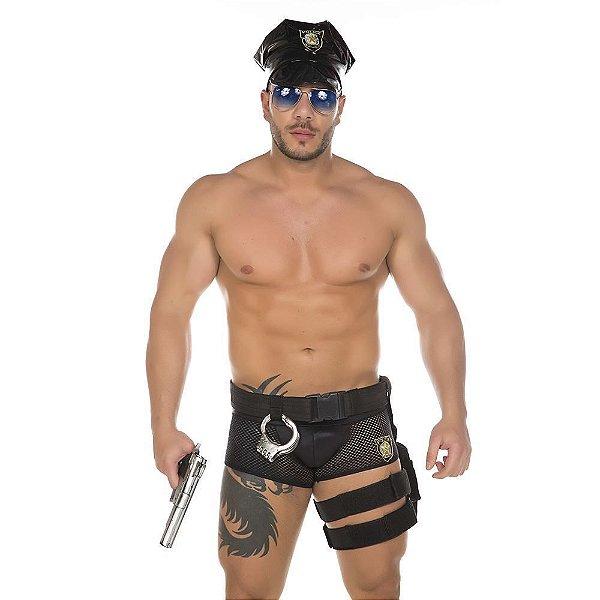 Fantasia Policial Masculina Pimenta Sexy