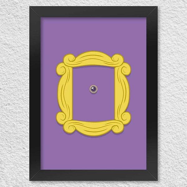 Poster com Moldura - Friends Door