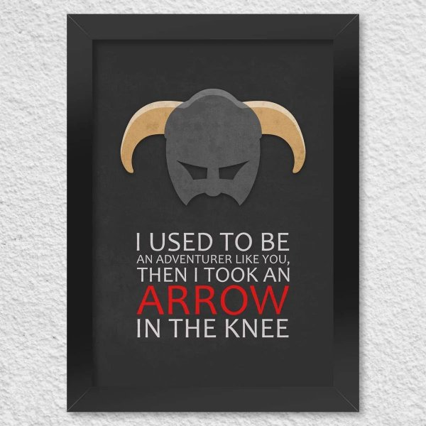 Poster com Moldura - Gamer Arrow In The Knee