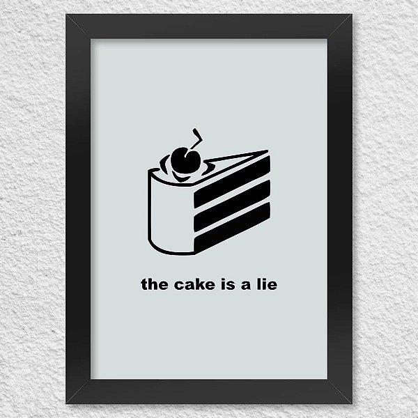 Poster com Moldura - Gamer Portal The Cake Is a Lie