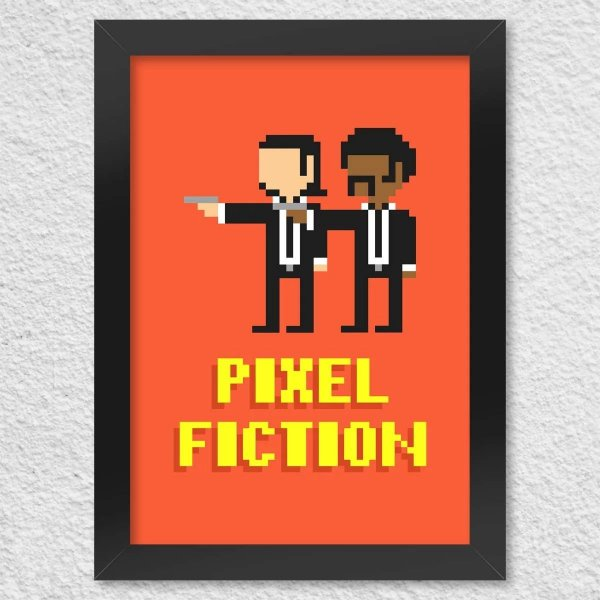 Poster com Moldura - Pixel Fiction