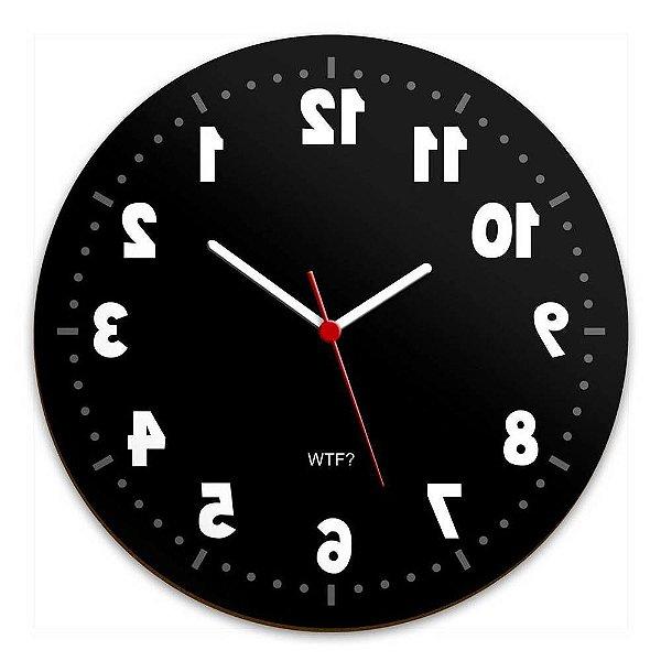 Relógio de Parede Geek Anti Horário