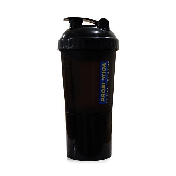 Shaker com 4 Compartimentos (500ml) - Probiótica