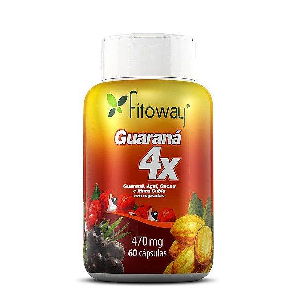Guarana 4x Fitoway - 60 Cápsulas - Fitoway