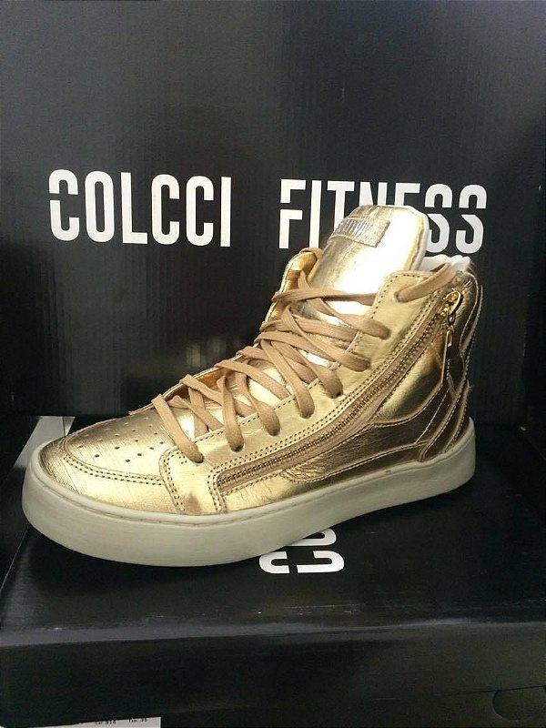 Tênis Dourado Metalizado - Colcci Fitness