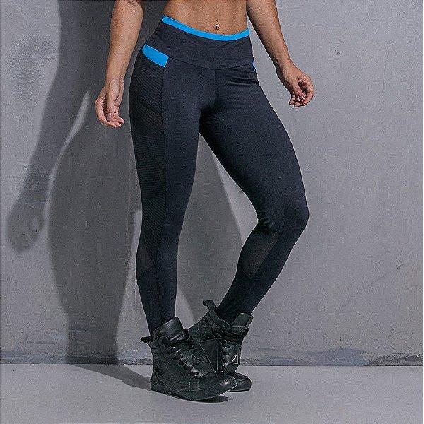 Calça Legging Black And Blue - Labellamafia