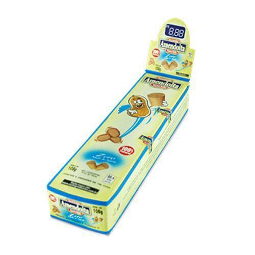Paçoca Rolha Zero Açúcar - 6 Unidades - Amendoita