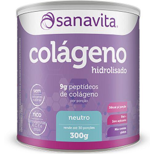 Colágeno Hidrolisado em Pó - 300gr - Sanavita