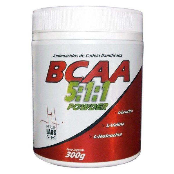 BCAA 5:1:1 Powder 300g - Health Labs Sabor Laranja