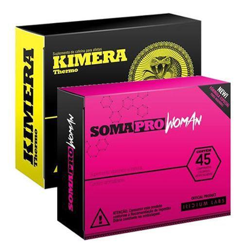Combo Kimera + Somatodrol Woman (Novo) - Emagrecimento e Definição - Iridium Labs