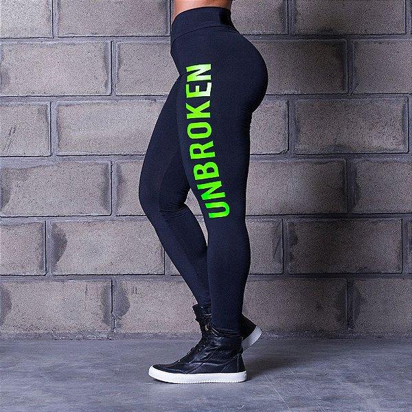 Calça Legging Cross Trainning Unbroken Green - Labellamafia