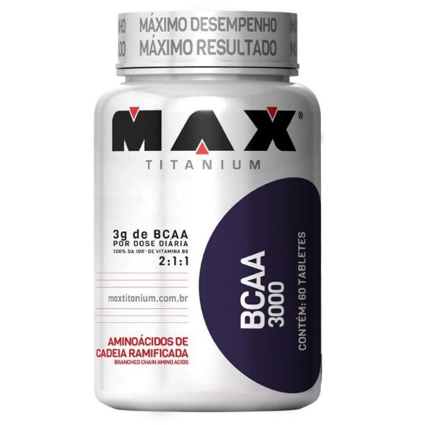 BCAA 3000 - 60 Tabletes - Max Titanium