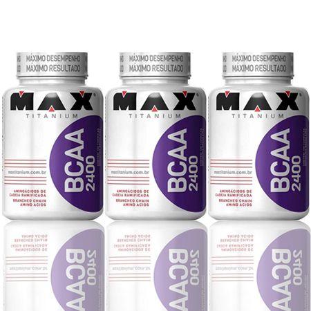 Combo 3 BCAA 60 Cápsulas - Max Titanium