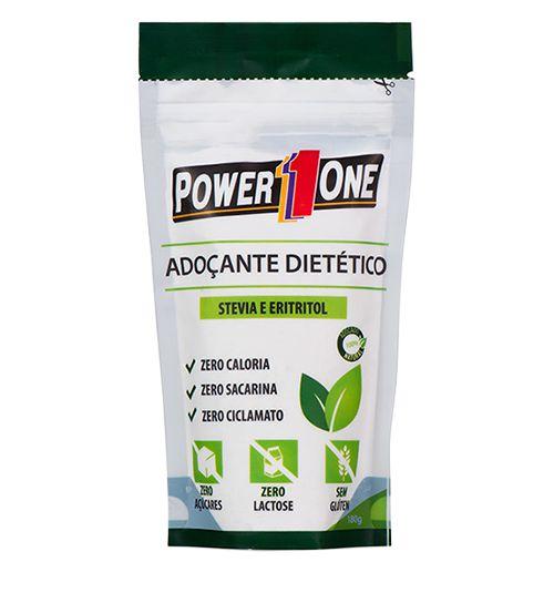 Adoçante Dietético Stevia e Eritritol (180gr) - Power One