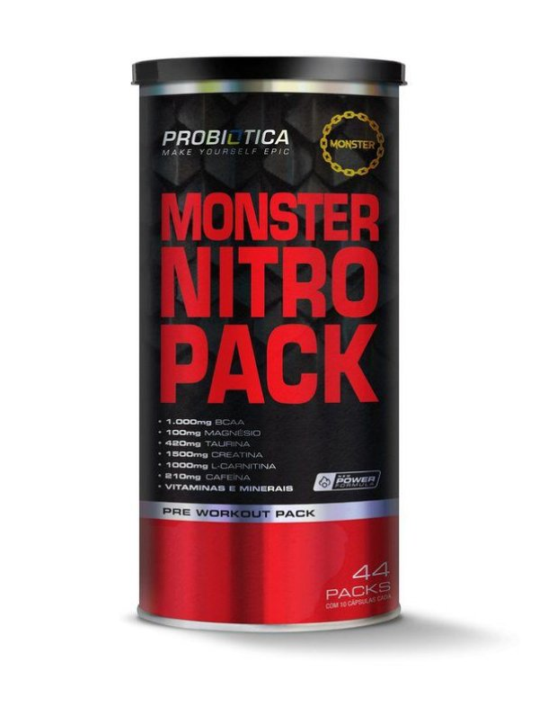 Monster Nitro Pack (44 Packs) - Probiótica (Novo)