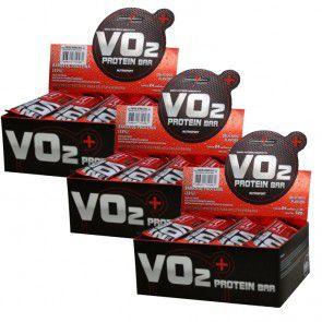 Combo VO2 Protein Bar - 3x24und  Integralmédica - Sabor Frutas Vermelhas