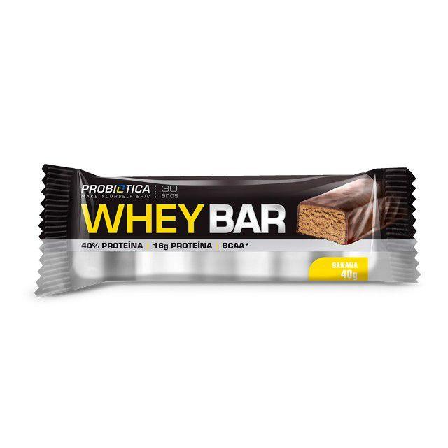 Whey Bar High Protein - 40g - 1 Unidade - Probiótica
