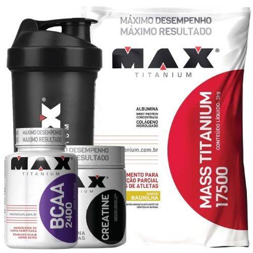 Combo Mass Titanium 3kg + Coqueteleira Max Grátis - Max Titanium