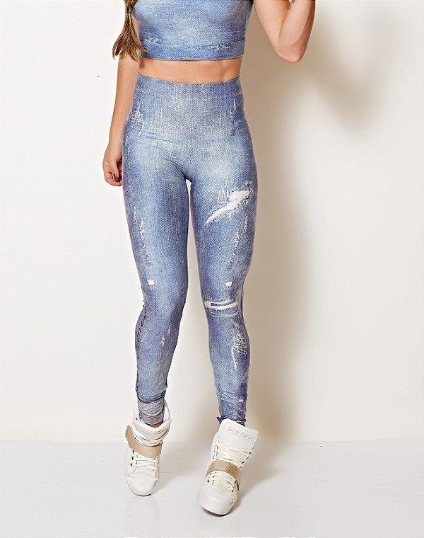 Calça Legging Jeans - Colcci Fitness