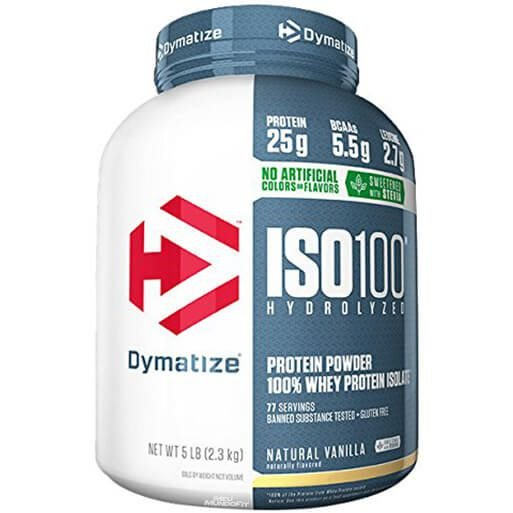 ISO 100 Whey Protein Natural Stevia - 5 LBS - Dymatize