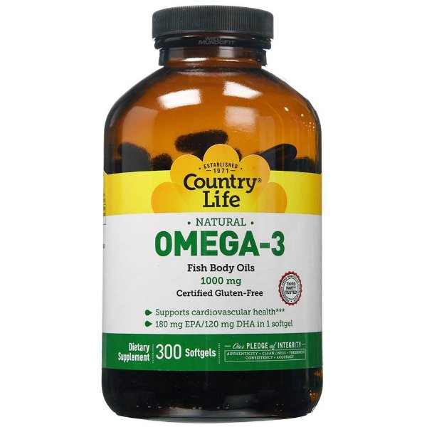 Omega 3 (300 softgels) - Country-Life