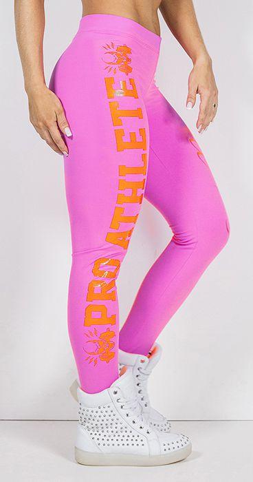 Calça Legging Pro Athlete Pink Orange - M