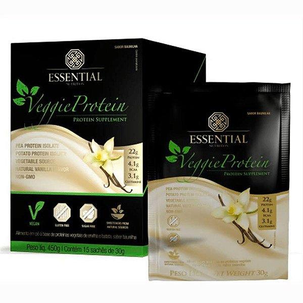 Veggie Protein Vanilla - 15 Sachês de 36g - Essential Nutrition