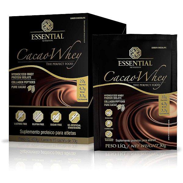 Cacao Whey - Caixa C/ 15 Saches de 30g - Essential Nutrition