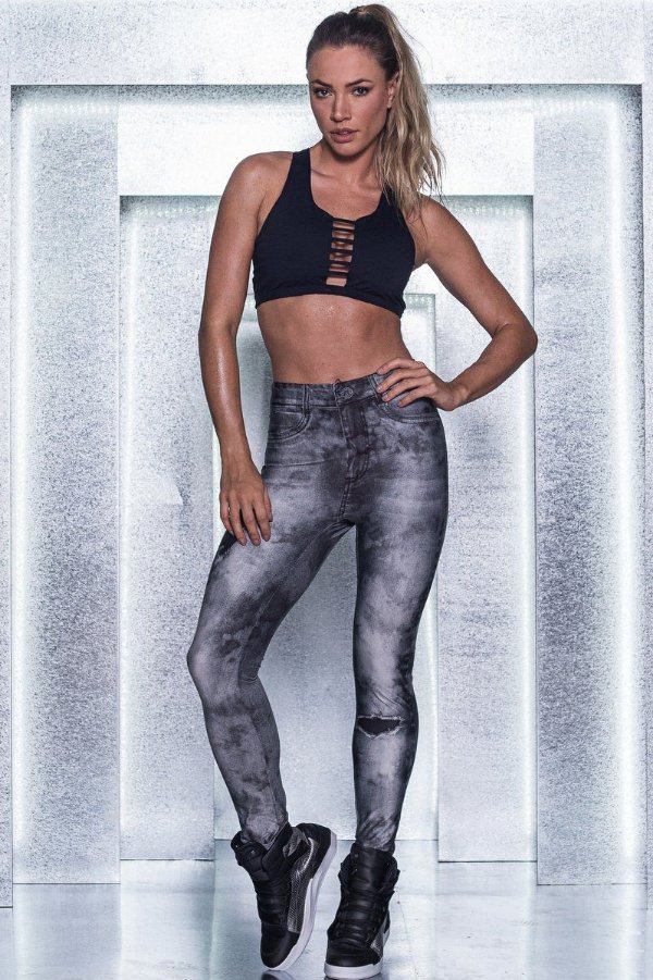Calça Legging Jeans Granite