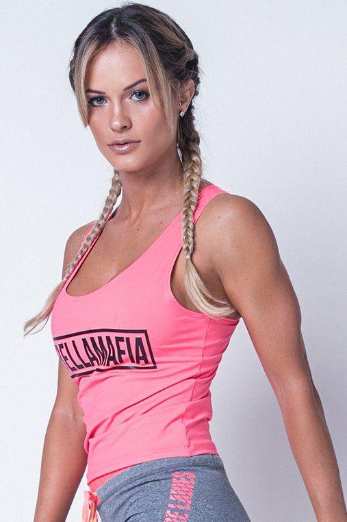 Blusa Regata Coral Neon - P - Labellamafia