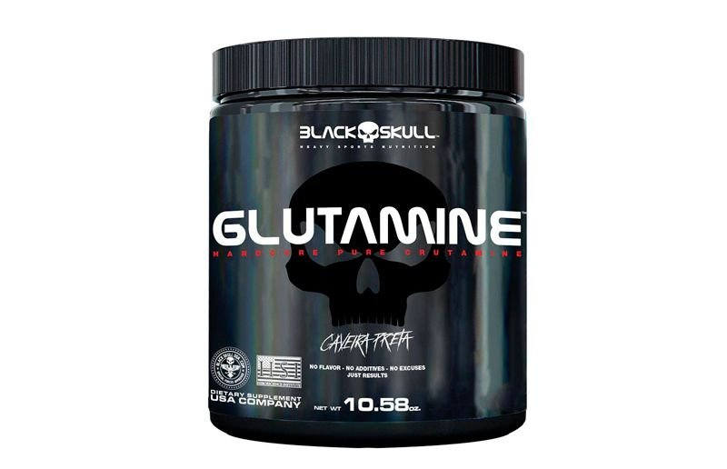 Glutamina (500g) Caveira Preta - Black Skull
