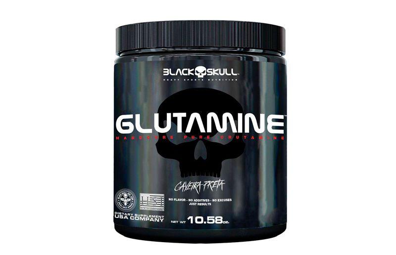 Glutamina (300g) Caveira Preta - Black Skull