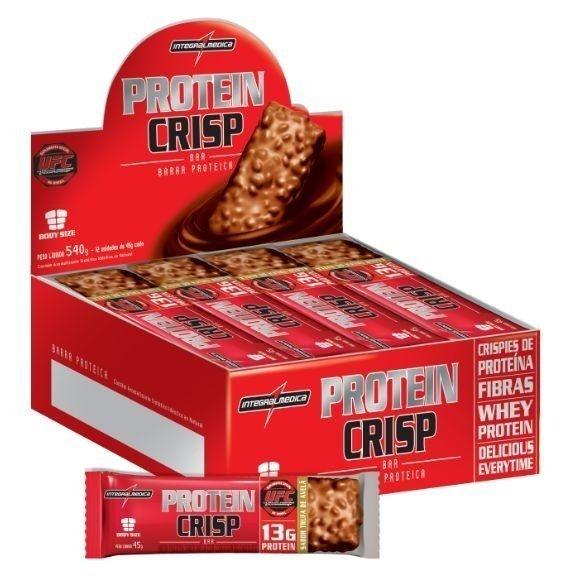 Protein Crisp Bar - Caixa com 12 unidades - Integralmédica