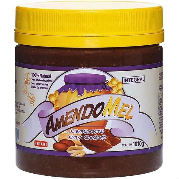 Pasta de Amendoim Cacau Crocante 1kg - Amendomel