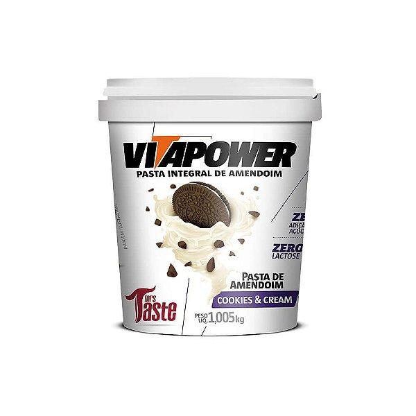 Pasta Integral Cookies & Cream 1kg - VitaPower