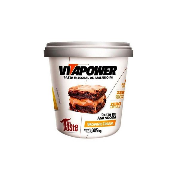 Pasta Integral Brownie Cream 1kg - VitaPower