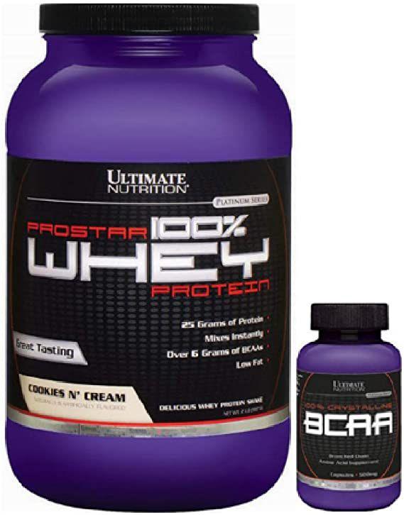 Combo Prostar 100% Whey 2lbs + Bcaa 100% 60caps - Ultimate Nutrition