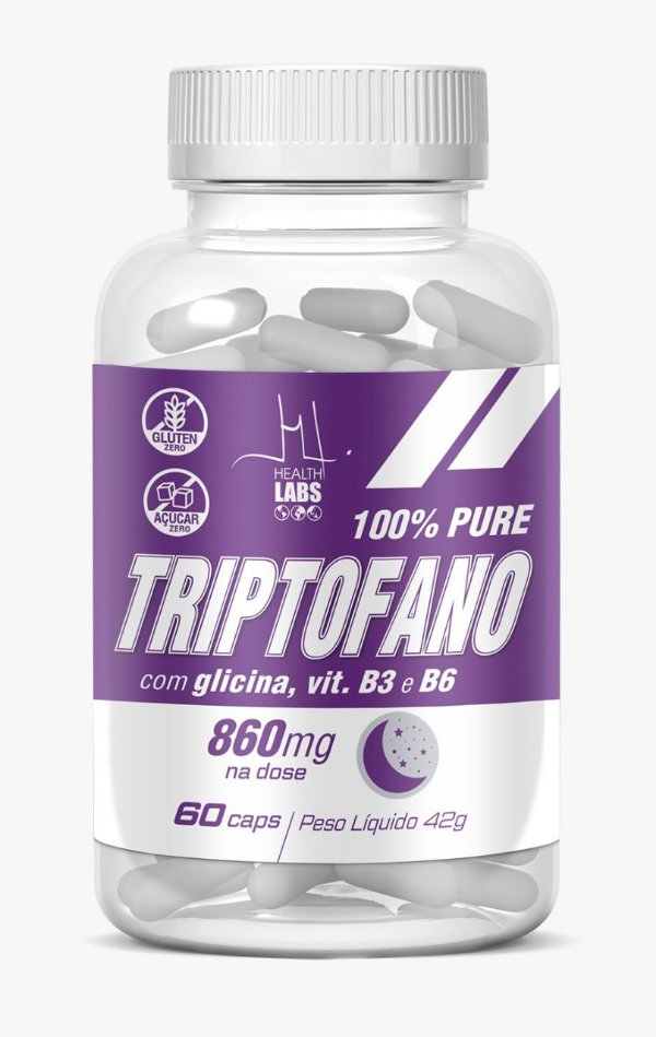 Triptofano 100% Pure (60 capsulas) - Health Labs