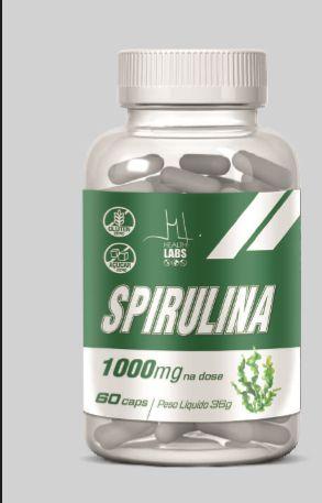 SPIRULINA 1000 mg (60 capsulas) - Health Labs
