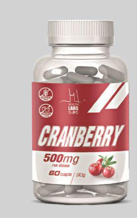 Cranberry 500mg (60 caps) - Health Labs