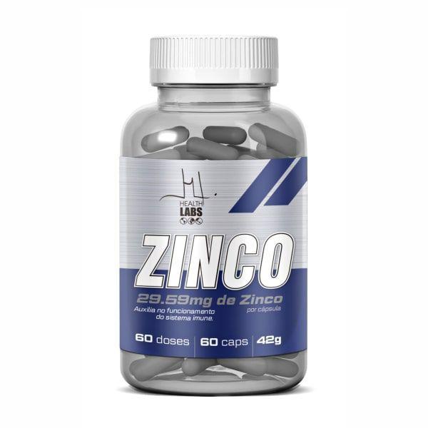 Zinco Quelato - 60 Cápsulas - Health Labs