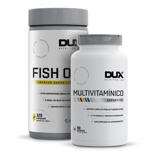 Combo Fish Oil Omega 3 + Multivitaminico - Dux Nutrition