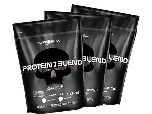 Kit 3x Protein 7 Blend (837g cada) - Black Skull