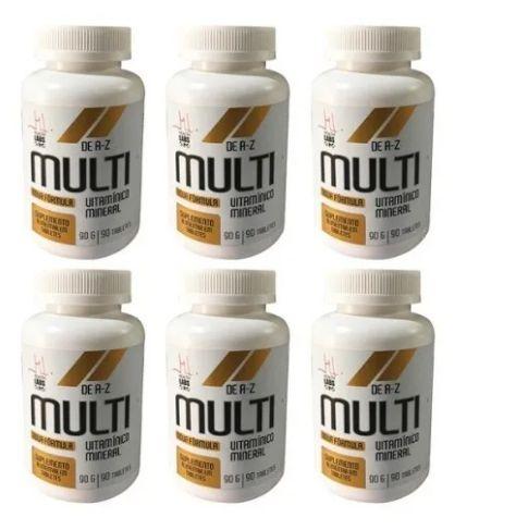 Kit 6x Multi Vitamínico A-z - 90 Tabletes cada - Health Labs